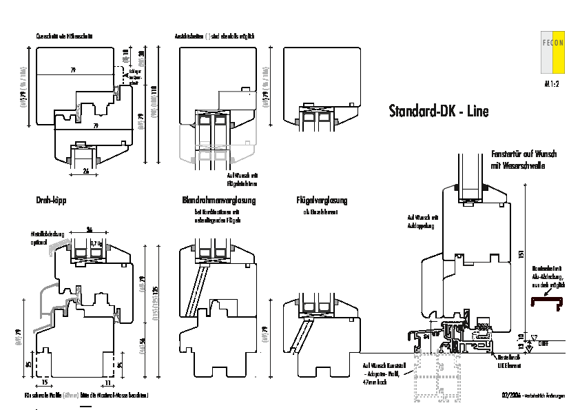 Standard Fenster - Linie-IV79