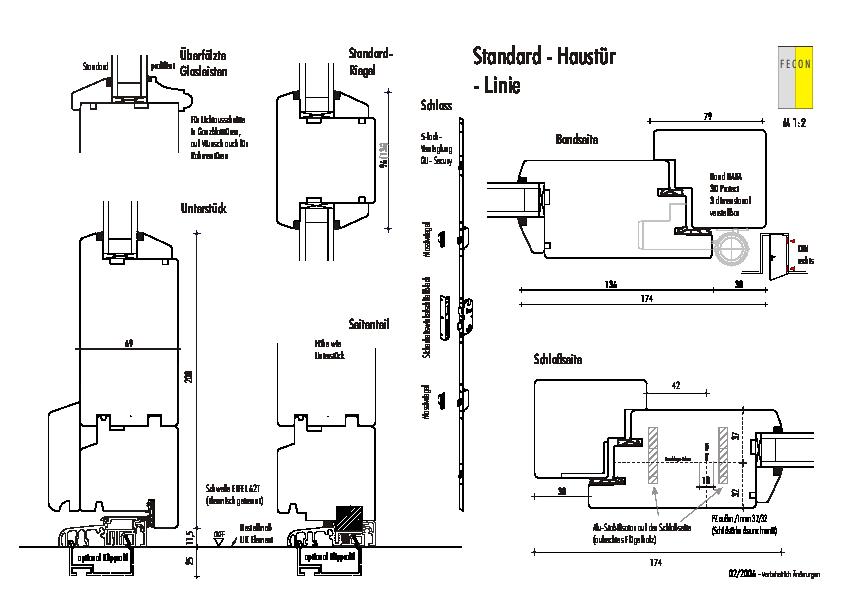 Standard Haustuer - Linie