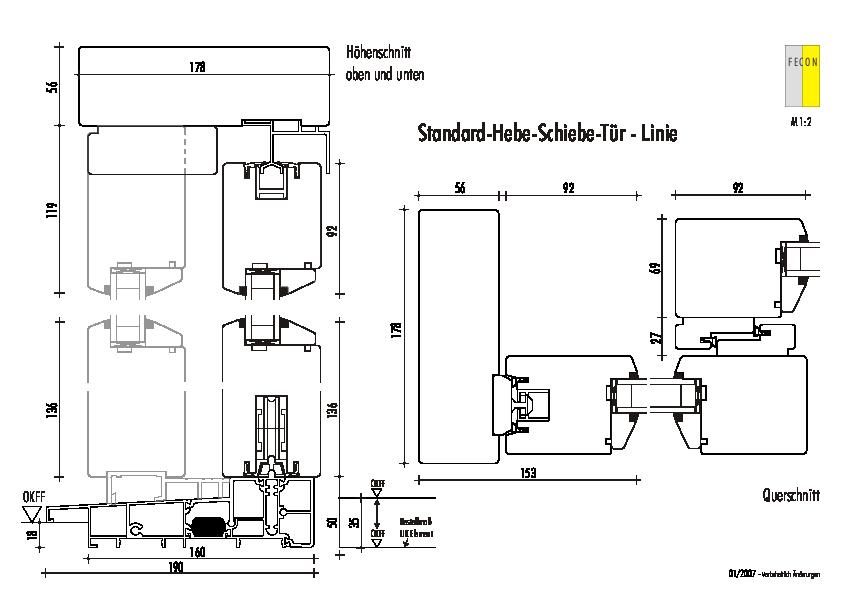 Standard Hebe-Schiebetueren - Linie