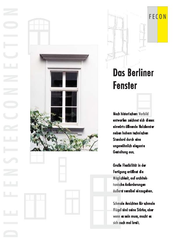 Berliner Fenster - Flyer